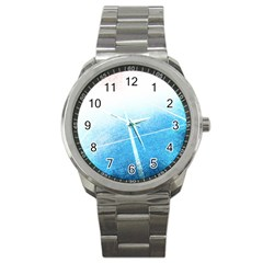 Court Sport Blue Red White Sport Metal Watch by Amaryn4rt