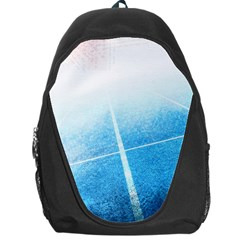 Court Sport Blue Red White Backpack Bag by Amaryn4rt