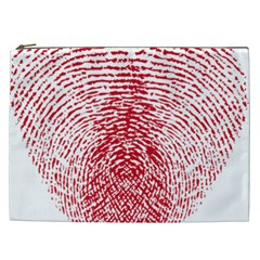 Heart Love Valentine Red Cosmetic Bag (xxl)  by Alisyart