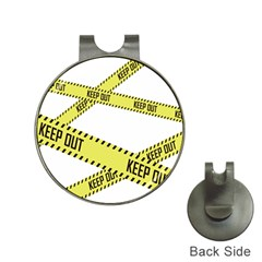 Keep Out Police Line Yellow Cross Entry Hat Clips With Golf Markers by Alisyart