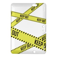 Keep Out Police Line Yellow Cross Entry Kindle Fire Hdx 8 9  Hardshell Case by Alisyart