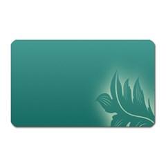 Leaf Green Blue Branch  Texture Thread Magnet (rectangular) by Alisyart