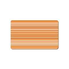 Line Brown Magnet (name Card) by Alisyart
