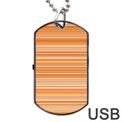 Line Brown Dog Tag Usb Flash (two Sides) by Alisyart