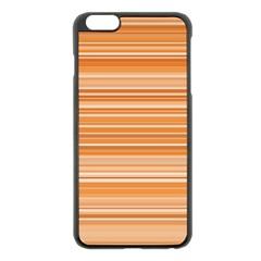 Line Brown Apple Iphone 6 Plus/6s Plus Black Enamel Case by Alisyart