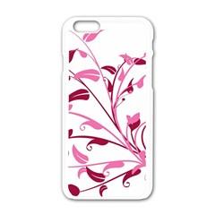 Leaf Pink Floral Apple Iphone 6/6s White Enamel Case by Alisyart