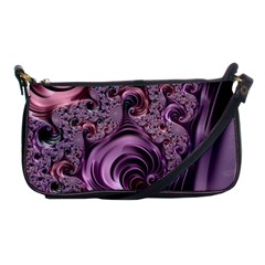 Purple Abstract Art Fractal Art Fractal Shoulder Clutch Bags by Amaryn4rt