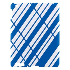 Line Blue Chevron Apple Ipad 3/4 Hardshell Case by Alisyart