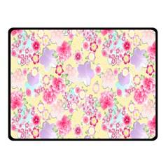 Flower Arrangements Season Floral Pink Purple Star Rose Fleece Blanket (small) by Alisyart