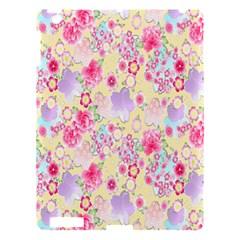 Flower Arrangements Season Floral Pink Purple Star Rose Apple Ipad 3/4 Hardshell Case by Alisyart