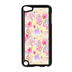 Flower Arrangements Season Floral Pink Purple Star Rose Apple Ipod Touch 5 Case (black) by Alisyart
