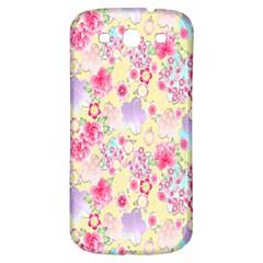 Flower Arrangements Season Floral Pink Purple Star Rose Samsung Galaxy S3 S Iii Classic Hardshell Back Case by Alisyart