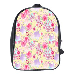 Flower Arrangements Season Floral Pink Purple Star Rose School Bags (xl)  by Alisyart