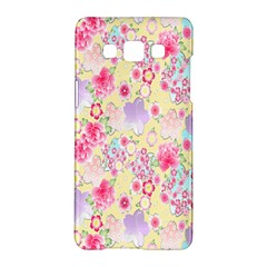 Flower Arrangements Season Floral Pink Purple Star Rose Samsung Galaxy A5 Hardshell Case  by Alisyart