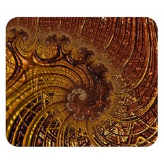 Copper Caramel Swirls Abstract Art Double Sided Flano Blanket (small)  by Amaryn4rt