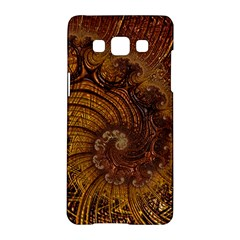 Copper Caramel Swirls Abstract Art Samsung Galaxy A5 Hardshell Case