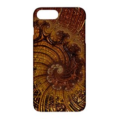 Copper Caramel Swirls Abstract Art Apple iPhone 7 Plus Hardshell Case by Amaryn4rt