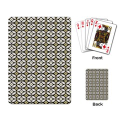 Flower Floral Chevrpn Wave Sunflower Rose Grey Yellow Playing Card by Alisyart
