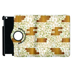 Flower Floral Leaf Rose Pink White Green Gold Apple Ipad 3/4 Flip 360 Case by Alisyart