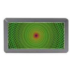 Green Fractal Simple Wire String Memory Card Reader (mini) by Amaryn4rt
