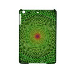 Green Fractal Simple Wire String Ipad Mini 2 Hardshell Cases by Amaryn4rt