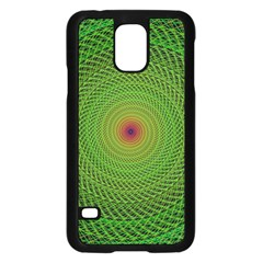 Green Fractal Simple Wire String Samsung Galaxy S5 Case (black)