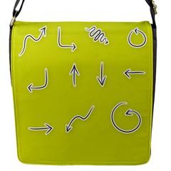 Arrow Line Sign Circle Flat Curve Flap Messenger Bag (s) by Amaryn4rt