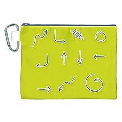 Arrow Line Sign Circle Flat Curve Canvas Cosmetic Bag (xxl) by Amaryn4rt