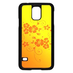 Flowers Floral Design Flora Yellow Samsung Galaxy S5 Case (black)