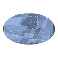 Lines Shapes Pattern Web Creative Oval Magnet