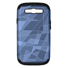 Lines Shapes Pattern Web Creative Samsung Galaxy S Iii Hardshell Case (pc+silicone) by Amaryn4rt