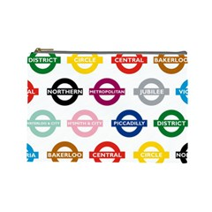 Underground Signs Tube Signs Cosmetic Bag (large)