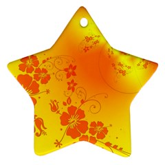 Flowers Floral Design Flora Yellow Ornament (star) by Amaryn4rt