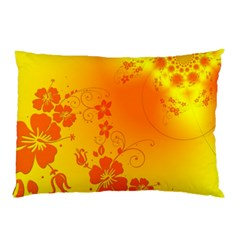 Flowers Floral Design Flora Yellow Pillow Case (two Sides) by Amaryn4rt