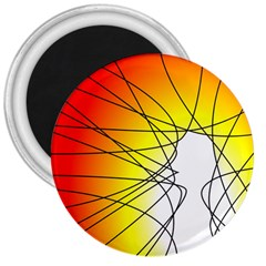 Spirituality Man Origin Lines 3  Magnets by Amaryn4rt
