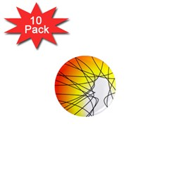 Spirituality Man Origin Lines 1  Mini Magnet (10 Pack)  by Amaryn4rt