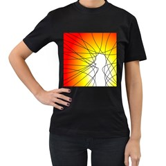 Spirituality Man Origin Lines Women s T Shirt (black) by Amaryn4rt