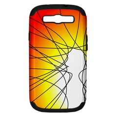 Spirituality Man Origin Lines Samsung Galaxy S Iii Hardshell Case (pc+silicone) by Amaryn4rt