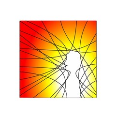 Spirituality Man Origin Lines Satin Bandana Scarf by Amaryn4rt