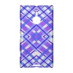Geometric Plaid Pale Purple Blue Nokia Lumia 1520 by Amaryn4rt