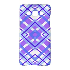 Geometric Plaid Pale Purple Blue Samsung Galaxy A5 Hardshell Case