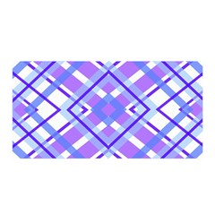 Geometric Plaid Pale Purple Blue Satin Wrap by Amaryn4rt