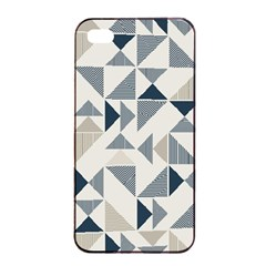 Geometric Triangle Modern Mosaic Apple Iphone 4/4s Seamless Case (black) by Amaryn4rt