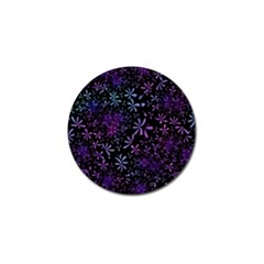 Retro Flower Pattern Design Batik Golf Ball Marker by Amaryn4rt