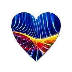 Color Colorful Wave Abstract Heart Magnet