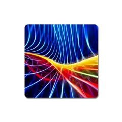 Color Colorful Wave Abstract Square Magnet by Amaryn4rt