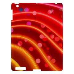 Bokeh Lines Wave Points Swing Apple Ipad 3/4 Hardshell Case
