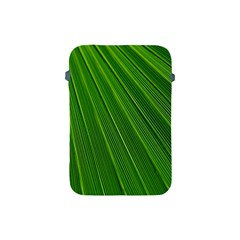 Green Lines Macro Pattern Apple Ipad Mini Protective Soft Cases by Amaryn4rt