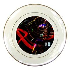 Night View Night Chaos Line City Porcelain Plates by Amaryn4rt
