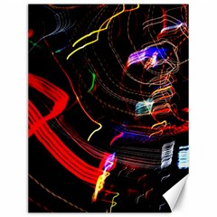 Night View Night Chaos Line City Canvas 12  X 16